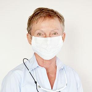 Zahnarzt Portrait mit Maske